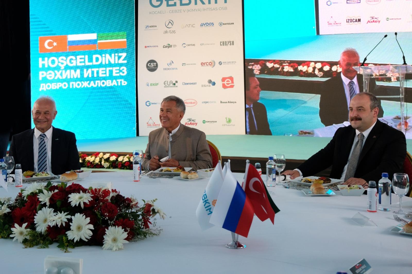RF Tataristan Cumhurbaşkanı Minnihanov İle Sanayi Ve Teknoloji Bakanı Varank Büyük Çaplı Yatırım İçin GEBKİM'deydi